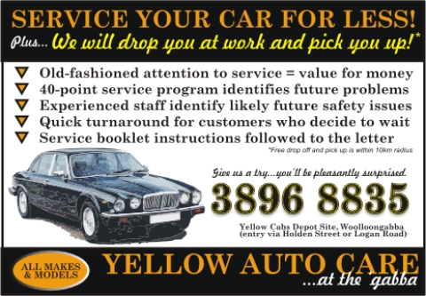 Service your car for less with Yellow Auto Care